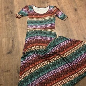 LuLaRoe Long Pattern Dress